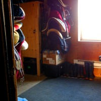 Image of the tack room at Walden Ridge Equestrian Center