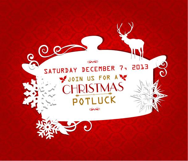Christmas Potluck Flyer Blackdgfitness